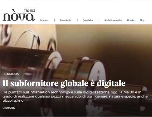Ma.Bo. e l'Industry 4.0 raccontati su NOVA24 Il Sole 24 Ore